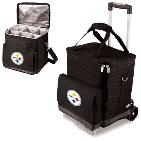 Pittsburgh Steelers Cellar Wine Cooler w/Trolley