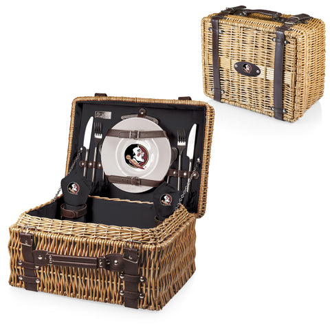 Florida State Seminoles Champion Picnic Basket in Black