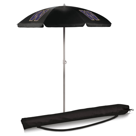 Washington Huskies 5.5' Portable Beach/Picnic Umbrella in Black