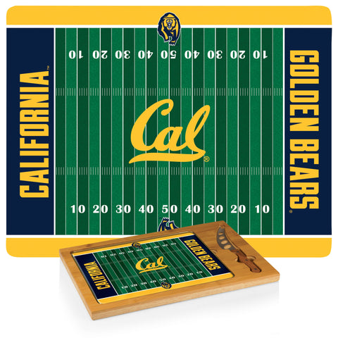 Cal Bears Icon Cutting Board/Tray and Knife Set in Football Design
