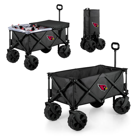 Arizona Cardinals Adventure Wagon Elite with All Terrain Wheels in Dark Grey