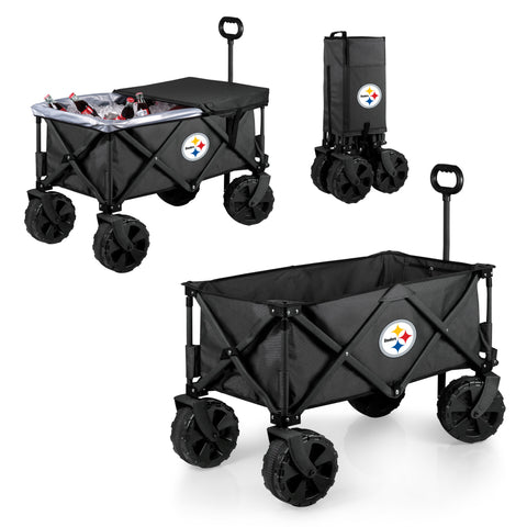 Pittsburgh Steelers Adventure Wagon Elite with All Terrain Wheels in Dark Grey