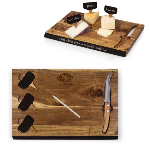 San Francisco 49ers Delio Acacia Cheese Board and Tools Set