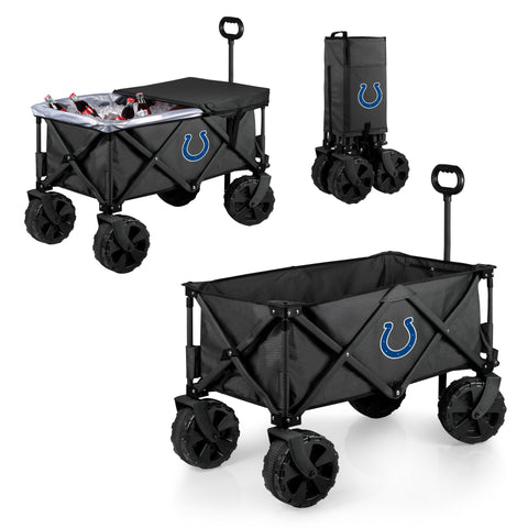 Indianapolis Colts Adventure Wagon Elite with All Terrain Wheels in Dark Grey
