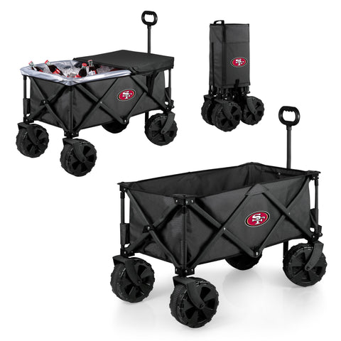 San Francisco 49ers Adventure Wagon Elite with All Terrain Wheels in Dark Grey