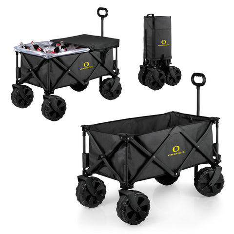 Oregon Ducks Adventure Wagon Elite with All Terrain Wheels in Dark Grey