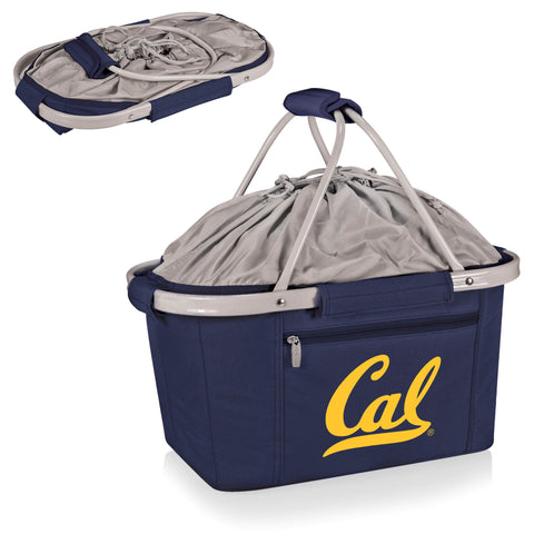 Cal Bears Metro Basket Collapsible Tote in Navy
