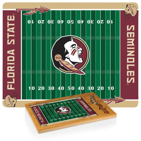 Florida State Seminoles Icon Cutting Board/Tray and Knife Set in Football Design
