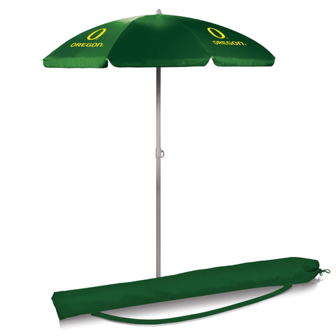 Oregon Ducks 5.5' Portable Beach/Picnic Umbrella in Hunter Green