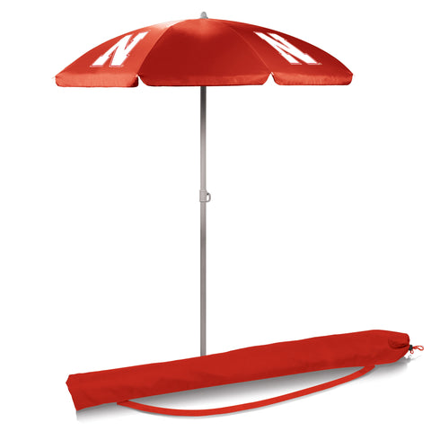 Nebraska Cornhuskers 5.5' Portable Beach/Picnic Umbrella in Red