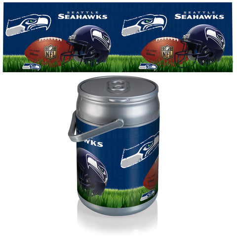 Seattle Seahawks Can Cooler in Football Design