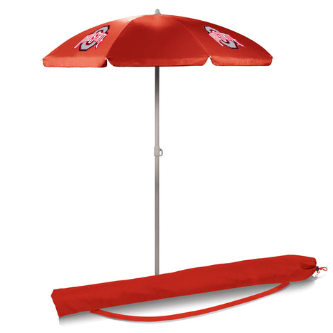 Ohio State Buckeyes 5.5' Portable Beach/Picnic Umbrella in Red