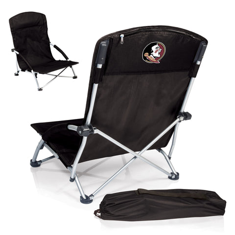 Florida State Seminoles Tranquility Portable Beach Chair in Black