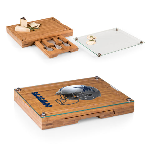 Dallas Cowboys Concerto Bamboo Cutting Board/Tray and Cheese Tools Set