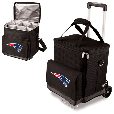 New England Patriots Cellar Wine Cooler w/Trolley
