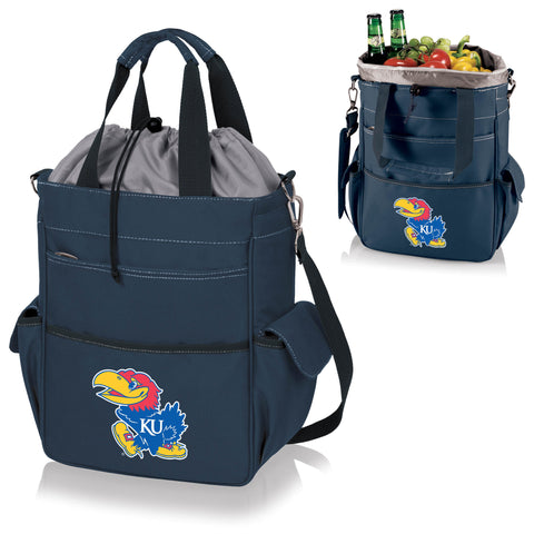 Kansas Jayhawks Activo Cooler Tote in Navy