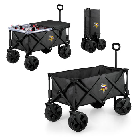 Minnesota Vikings Adventure Wagon Elite with All Terrain Wheels in Dark Grey