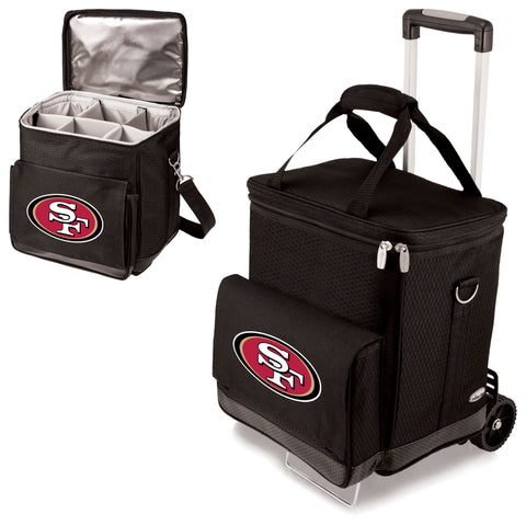 San Francisco 49ers Cellar Wine Cooler w/Trolley