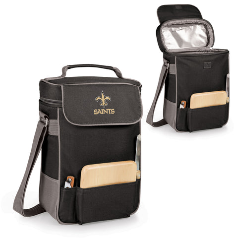 New Orleans Saints Duet Wine and Cheese Tote in Black
