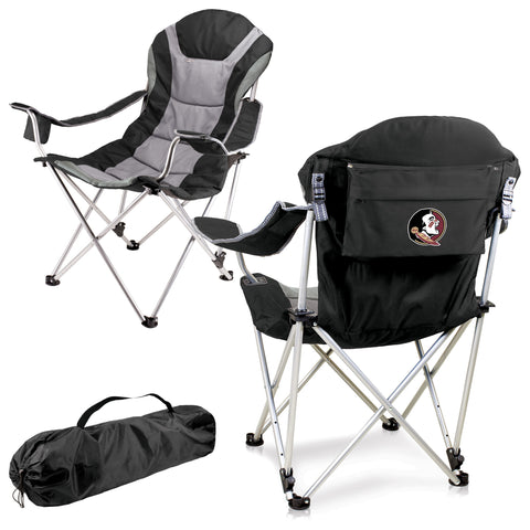 Florida State Seminoles Reclining Camp Chair in Black