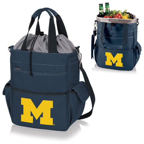 Michigan Wolverines Activo Cooler Tote in Navy