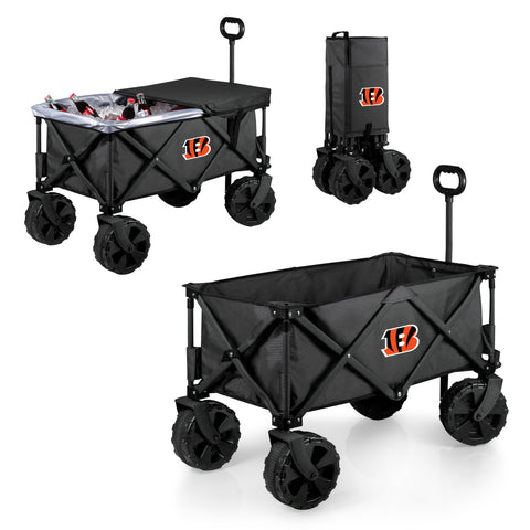 Cincinnati Bengals Adventure Wagon Elite with All Terrain Wheels in Dark Grey