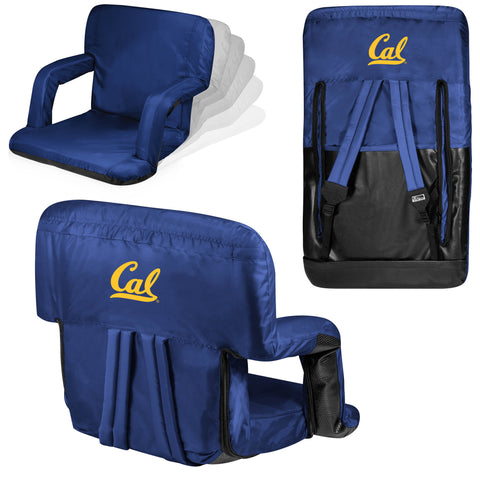 Cal Bears Ventura Seat Portable Recliner Chair in Navy