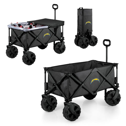 Los Angeles Chargers Adventure Wagon Elite with All Terrain Wheels in Dark Grey