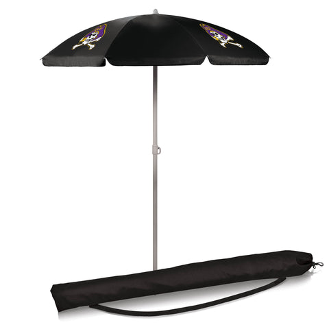 East Carolina Pirates 5.5' Portable Beach/Picnic Umbrella in Black