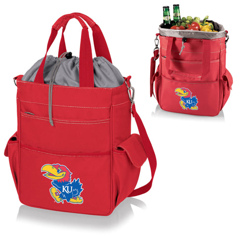 Kansas Jayhawks Activo Cooler Tote in Red