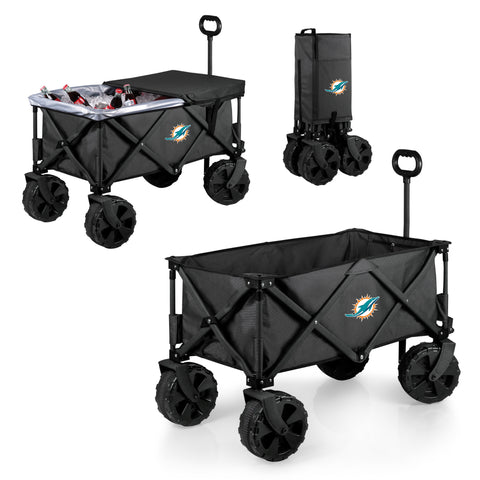 Miami Dolphins Adventure Wagon Elite with All Terrain Wheels in Dark Grey