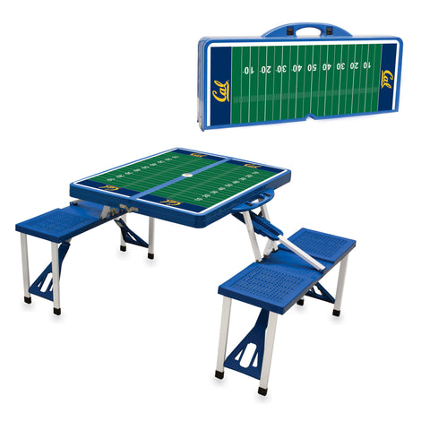 Cal Bears Portable Picnic Table w/Sports Field Design in Blue