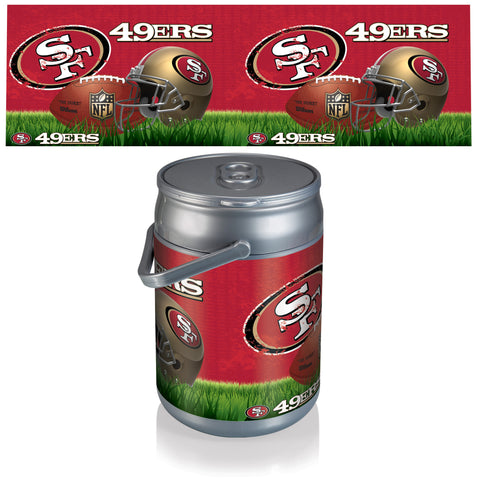 San Francisco 49ers Can Cooler in Football Design