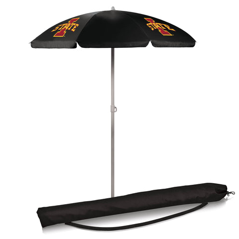 Iowa State Cyclones 5.5' Portable Beach/Picnic Umbrella in Black