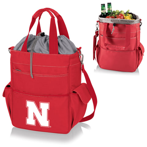 Nebraska Cornhuskers Activo Cooler Tote in Red