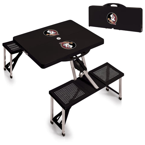 Florida State Seminoles Portable Picnic Table in Black