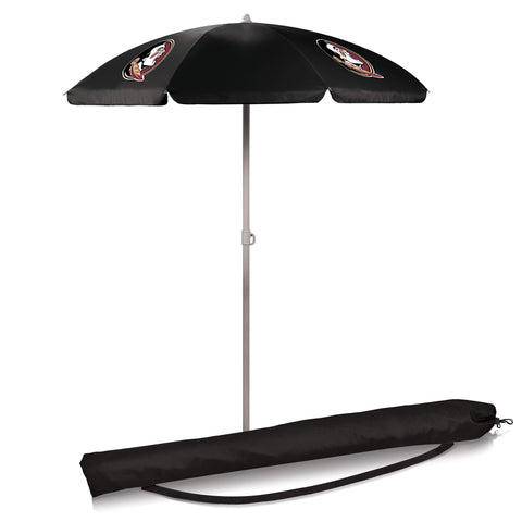 Florida State Seminoles 5.5' Portable Beach/Picnic Umbrella in Black