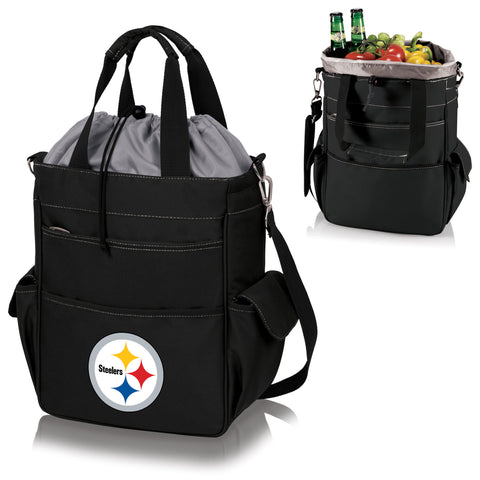 Pittsburgh Steelers Activo Cooler Tote in Black