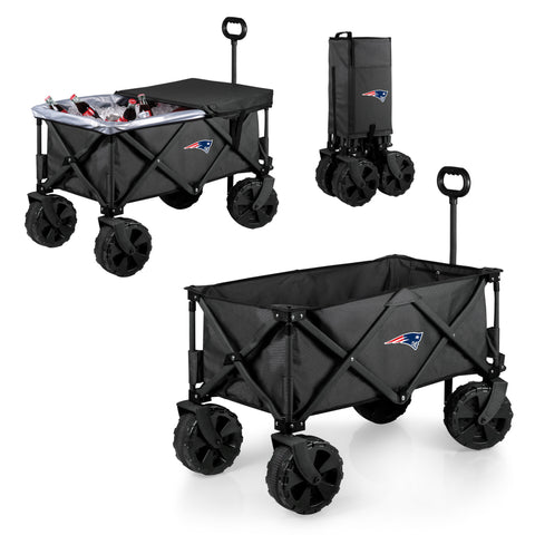 New England Patriots Adventure Wagon Elite with All Terrain Wheels in Dark Grey