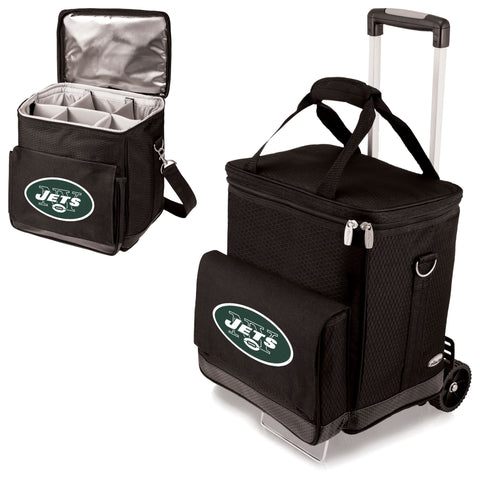 New York Jets Cellar Wine Cooler w/Trolley