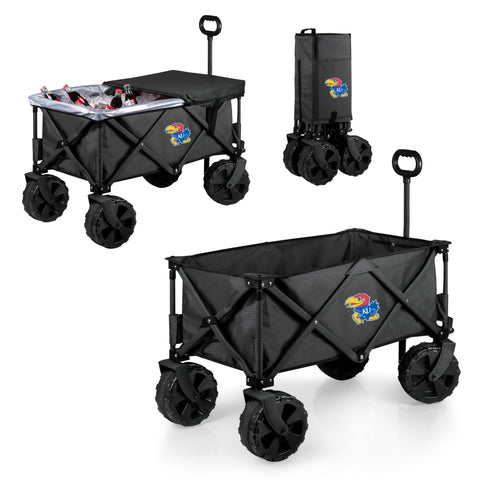 Kansas Jayhawks Adventure Wagon Elite with All Terrain Wheels in Dark Grey