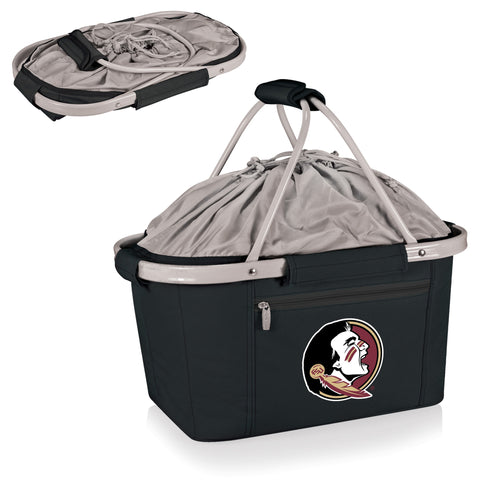 Florida State Seminoles Metro Basket Collapsible Tote in Black