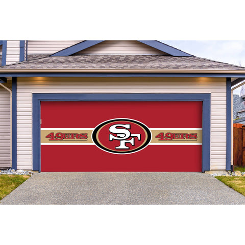 San Francisco 49Ers Double Garage Door Cover