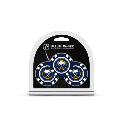 Buffalo Sabres 3 Pack Golf Chip Ball Markers