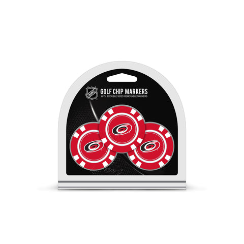 Carolina Hurricanes 3 Pack Golf Chip Ball Markers