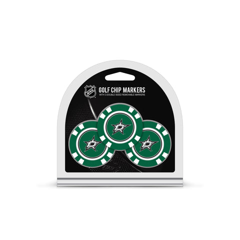 Dallas Stars 3 Pack Golf Chip Ball Markers