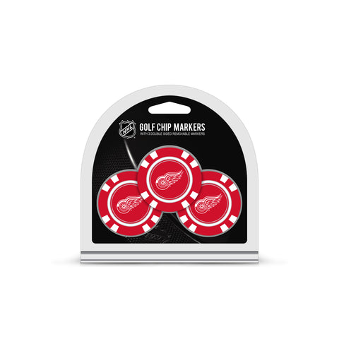 Detroit Red Wings 3 Pack Golf Chip Ball Markers