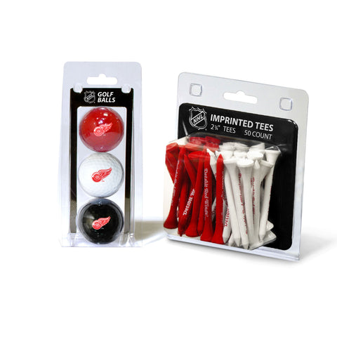 Detroit Red Wings 3 Golf Balls And 50 Golf Tees