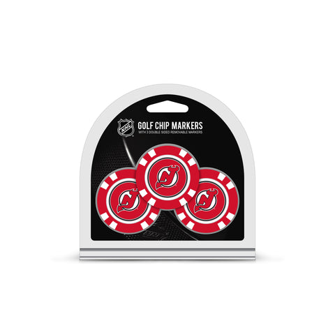 New Jersey Devils 3 Pack Golf Chip Ball Markers