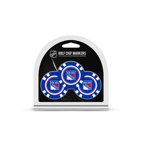 New York Rangers 3 Pack Golf Chip Ball Markers